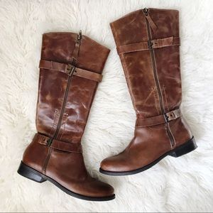 Matisse Militia Brown Leather Tall Riding Boots 10